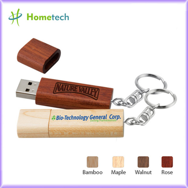 Gift Engraving Bamboo Customised Usb Flash