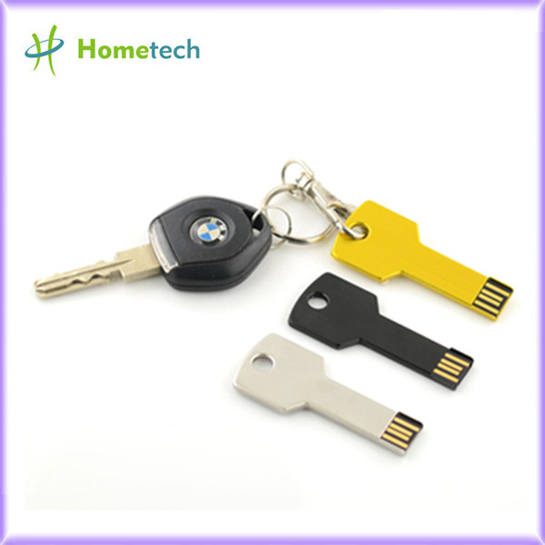 Silver Metal Key Shaped USB Flash Drive