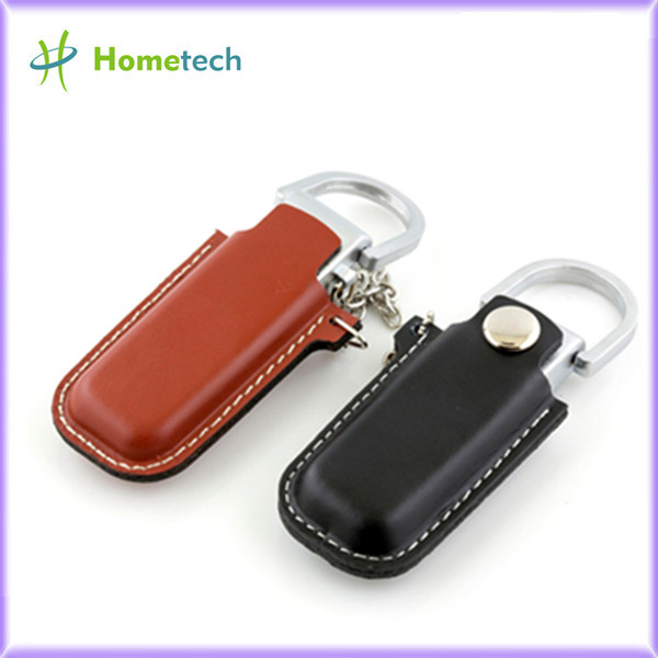 Brown Leather USB Flash Disk 4GB / 8GB with
