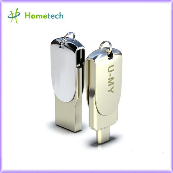 OTG USB flash drive with keyring for busine