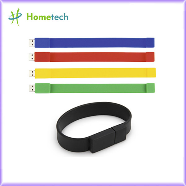 Silicone Bracelet Rubber Wristband USB Flas