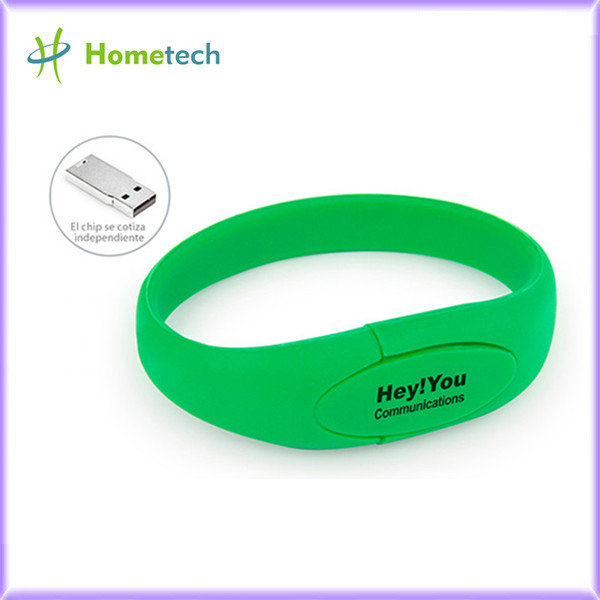 Silicon Wristband Bracelet Usb Flash Drive